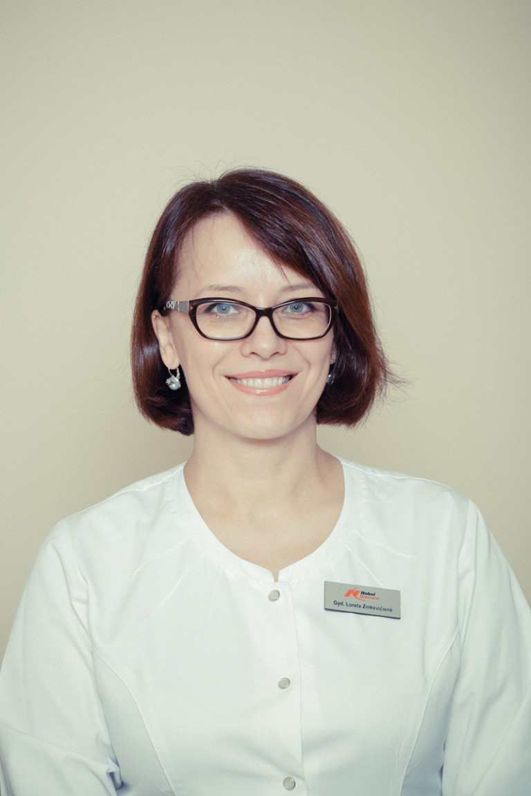Gydytoja-odontologė Loreta Zinkevičienė